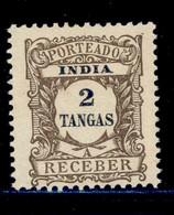 ! ! Portuguese India - 1904 Postage Due 2 Tg - Af. P08 - MH - Inde Portugaise