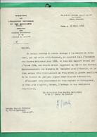 1935 Lettre Avec Signature Autographe De Henri Verne Directeur Musées Nationaux Et Membre De L ' Academie Des Beaux Arts - Autographs