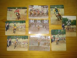 "Calendar Of Pocket Portuguese ""Motos"" Advertising Porto - Petit Format : 1981-90"