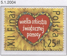 Poland 2004, Mi 4092; The Final Of The Great Orchestra Of Holiday Assistance WOSP, Jurek Owsiak Foundation **MNH - Organisaties