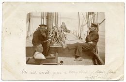 ROYAL NAVY : HMS LHASA - SAILING SHIP / TRAINING SHIP?? - TORQUAY, 1904 / ADDRESS - TENBY, LESCAEU HOUSE - Velieri
