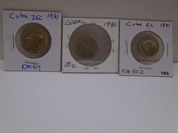 Cuba, 0.05,0.10,0.25 Centavos 1981, INTUR, XF. Gracias Por Visitar Mi Pagina. - Cuba