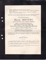 TONGRES LIEGE Marie-Guillaume Baron MEYERS 1862-1951 Institut Archéologique Liégeois En 2 Volets Complets - Obituary Notices