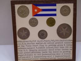 Cuba,(2)0.01 Cent 1946,1953(BRONCE),0.02 Cents 1915,0.10 Cents 1916,0.05 Cents 1920,0.20 Cents 1916.0.40 Cents 1915. XF. - Cuba