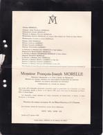 GOSSELIES IXELLES MORELLE François-Joseph 1865-1939 Membre Conseil Général Université Catholique Louvain  DAUBRESSE - Obituary Notices