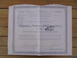FRANCE - 49 - ANGERS  1923 - FRANCAISE IMPRIMERIE ET PUBLICITE - OBLI GATION 500 FRS 7,25% - EMISSION 600 - PEU COURANT - Unclassified