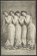 ROMANIA 4 Nice Girls RPPC Sent From KOVASZNA To Temesvar 1902  (see Sales Conditions) 02776 - Roumanie