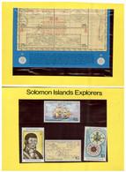 (P 16) Solomons Islands - Philatokyo 81 Explorers Pesentation Pack (with Mini Sheet + 4 Stamps) Mint - Salomoninseln (Salomonen 1978-...)