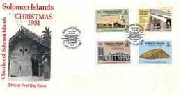 (P 16) Solomons Islands - FDC Cover - 1981 - Christmas - Salomoninseln (Salomonen 1978-...)