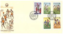 (P 16) Solomons Islands - FDC Cover - 1981 - South Pacific Games M/s - Salomoninseln (Salomonen 1978-...)