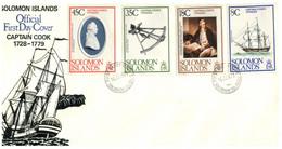 (P 16) Solomons Islands - FDC Cover - 1979 - Captain Cook - Salomoninseln (Salomonen 1978-...)
