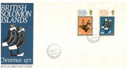 (P 16) Solomons Islands - FDC Cover - 1971 - Christmas - Salomoninseln (Salomonen 1978-...)