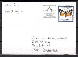 BRD; MiNr. 1605, Jugend: Gefährdete Nachtfalter, Auf Portoger. Brief Von Duisburg Nach  Duderstadt; B-1205 - [7] Federal Republic