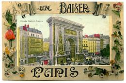 75010 PARIS - Un Baiser De La Porte Saint-Denis - Fantaisie Bien Colorisée - District 10