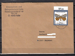 BRD; MiNr. 1606, Jugend: Gefährdete Nachtfalter, Auf Portoger. Brief Von Halle Nach  Espenau; C-109 - [7] Federal Republic