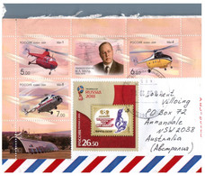 (P 17 Side) Russia Cover And Postcard Posted To Australia (with Part M/s & Stamps) 2 Items - 1992-.... Fédération