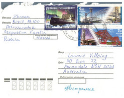 (P 17 Side) Russia Posted To Australia - (2 Letters) - 1992-.... Fédération