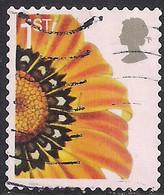 GB 2005 QE2 1st Smilers Gazania Splenden Flower Used SG 2567 ( R757 ) - 1952-.... (Elizabeth II)