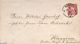 Germany, Empire 1877 Envelope 10pf From CASSEL, (Used Postal Stationary) - Cartas
