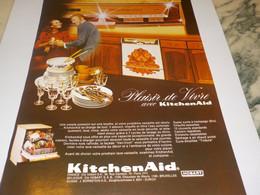 ANCIENNE PUBLICITE PLAISIR DE VIVRE AVEC KITCHENAID 1972 - Technical