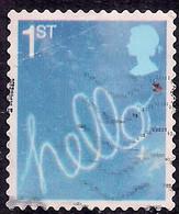 GB 2005 QE2 1st Smilers Hello Sky Writing Used SG 2568  ( R1044 ) - 1952-.... (Elizabeth II)