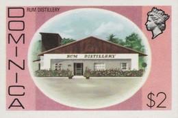 DOMINICA 1975 Rum Distillery Alcohol $2 IMPERF. - Vins & Alcools