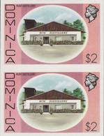 DOMINICA 1975 Rum Distillery Alcohol $2 IMPERF.PAIR - Vins & Alcools