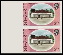 DOMINICA 1975 Rum Distillery Alcohol $2 MARG.IMPERF.PAIR - Vins & Alcools
