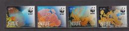 Niue  1202-05 2012 WWF  Niue Giant Sea Fan Mint Never Hinged - Niue