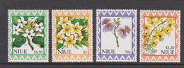 Niue Scott 672-75 1996 Flowers Mint Never Hinged - Niue