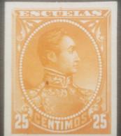 L) 1888 VENEZUELA, DIE PROOFS, AMERICAN BANK NOTE, SIMON BOLIVAR, ESCUELAS, 25 CENTIMOS, ORANGE, XF - Venezuela