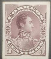 L) 1888 VENEZUELA, DIE PROOFS, AMERICAN BANK NOTE, SIMON BOLIVAR, ESCUELAS, PURPLE, 50C, XF - Venezuela