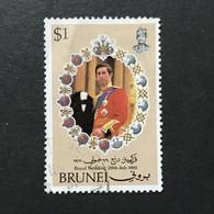 ◆◆◆Brunei  1981 Royal Wedding Issue  $1 USED  AA9443 - Brunei (1984-...)
