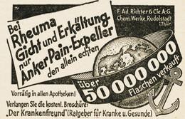 Original-Werbung/ Anzeige 1935 - RICHTER ANKER PAIN-EXPELLER - Ca. 65 X 45 Mm - Pubblicitari
