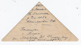 Russland Dreiecksbrief Mit Polnischer+russischer Zensur - Lettres & Documents