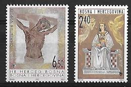 BOSNIE HERZEGOVINE-EUROPA - Année 1995 Paix Et Liberté  Yvert N° 10** & Année 1996 Femmes Célèbres Yvert N° 16** - Neufs - Bosnia Erzegovina
