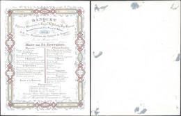 Carte En Porcelaine : Banquet Offert à M. Le Baron De Pelecho Van Buerne, Bourgmestre De La Ville De Bruges (1843) - Menú