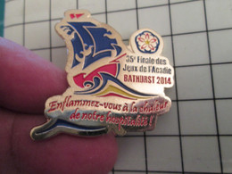 715d Pins Pin's / Rare & Belle Qualité THEME SPORTS / 35e FINALE DES JEUX DE L'ACADIE BATHURST 2014 Pin's Canadien - Pin's