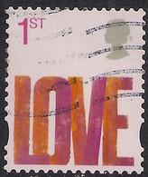 GB 2008 QE2 1st Smilers Love Used 4th Series SG 2820 ( K446 ) - 1952-.... (Elizabeth II)