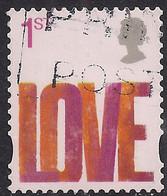 GB 2008 QE2 1st Smilers Love Used 4th Series SG 2820 ( K899 ) - 1952-.... (Elizabeth II)