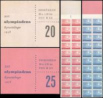 ** Sweden - 1956 - Olympic Games 1956 - Booklet - Mi. 413, 414 - Summer 1956: Melbourne