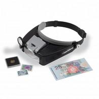 Leuchtturm Fokus LED Headband Magnifier 1.5X - 8X Magnification - Pinze, Lenti D'ingrandimento E Microscopi