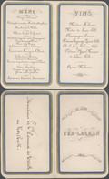 Belgique - Petit Menu Dépliant (Ter-Laeken, Diner Du 22 Juin 1870). - Menus