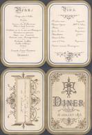 Belgique - Petit Menu Dépliant (10 Juillet 1875), Illustré. Lith. J Daelemans Rue De La Bourse, N°3 - Menus
