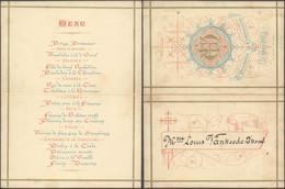 Belgique - Menu Première Communion (Bruges 26 Mars 1882, Lith. P. Raoux) - Menú