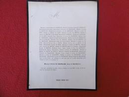 GENEALOGIE NOBLESSE DECES OCTAVE DE CHAPELAIN BARON DE SAINT SAUVEUR 1867 - Obituary Notices