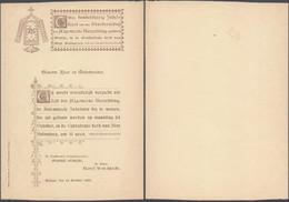 Belgique - Imprimé Sur La Fête Jubilaire à Bruges 19 Octobre 1898 / Jubelfeest Brugge - Sin Clasificación