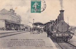 VILSEPT20-   AUXERRE  DANS L'YONNE  LA GARE SAINT GERVAIS   TACOT  EN GARE CPA  CIRCULEE - Auxerre