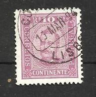 Portugal N°67 Cote 6 Euros - 1892-1898 : D.Carlos I
