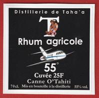 Polynésie Française - Tahiti / Etiquette De Bouteille De Rhum / Cuvée 25 F- 2020 - Scudetti In Tela
